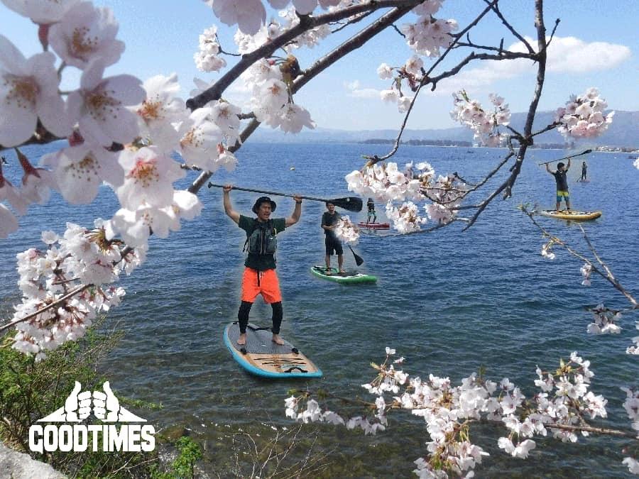 春のさくらお花見SUPツアー2020のお知らせ
